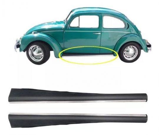 VW-ESTRIBO FUSCA SIMPLES C /CAPA BORRACHA E FR.CROMADO LE