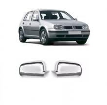 VW-CAPA RETROVISOR GOLF PEQUENA CROMADO LD