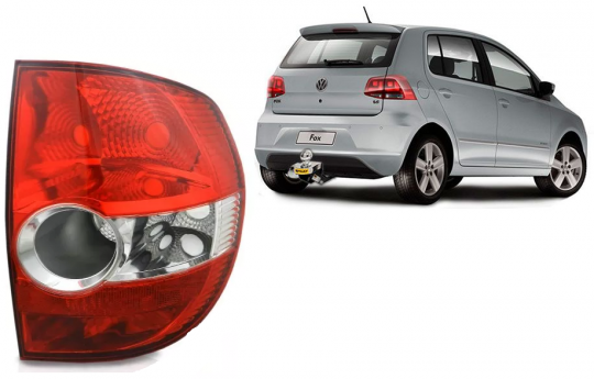 VW-LANTERNA TRASEIRA FOX 2004 / LE BICOLOR C /RE CRISTAL ACRIL