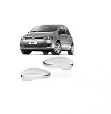 VW-CAPA RETROVISOR FOX 2010 CROMADO LD C/FURO