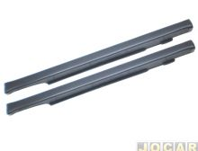 FORD-SPOILER LATERAL FIESTA 4PT 96/97 CINZA