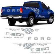 FAIXAS FORD-F-250/AZUL/VERMELHA/DOURADA