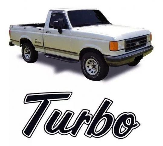 FORD-ADESIVO TURBO PICK-UP FORD 94 PTO /PRATA